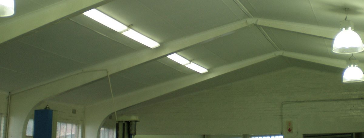 hospital roof with new lighting fixtures
