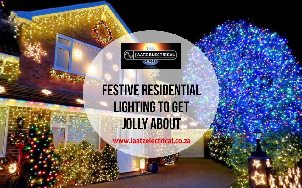 house with Christmas lights and tree